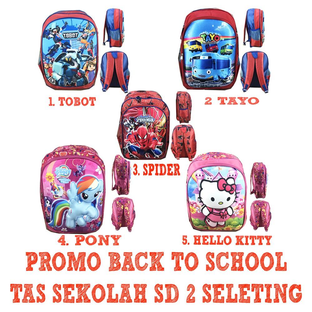 Promo PUSAT GROSIR Tas Ransel Sekolah Anak SD Laki Perempuan 3in1 JP Murah  4 Diskon  24879656aa
