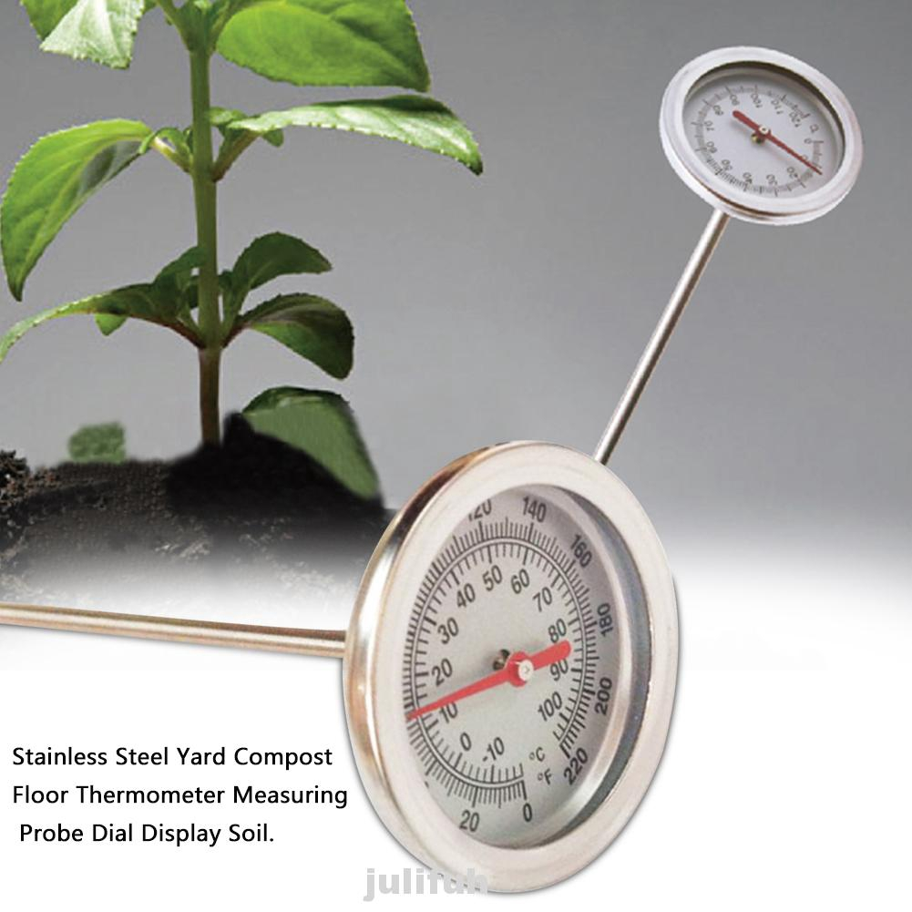 Stainless Steel 500mm Compost Soil Thermometer Garden Plant Measuring Probe