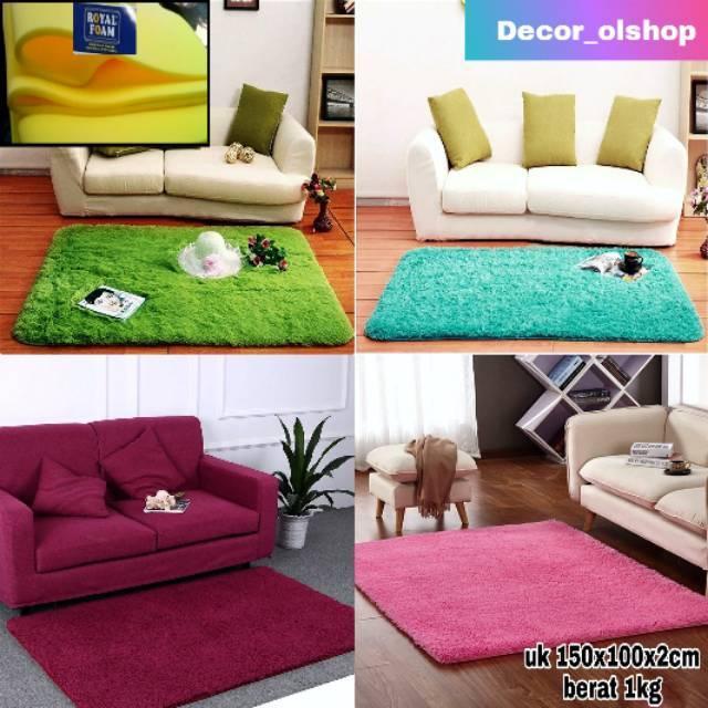 Karpet bulu uk 150x100x2cm Shopee Indonesia