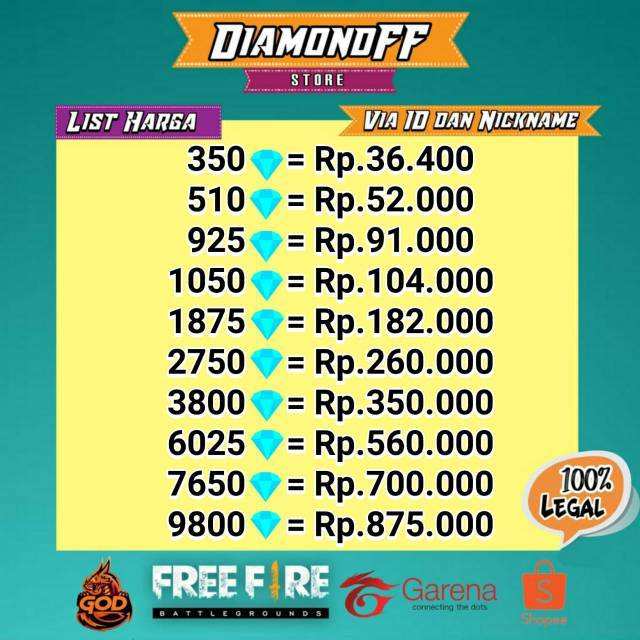 diamond garena free fire