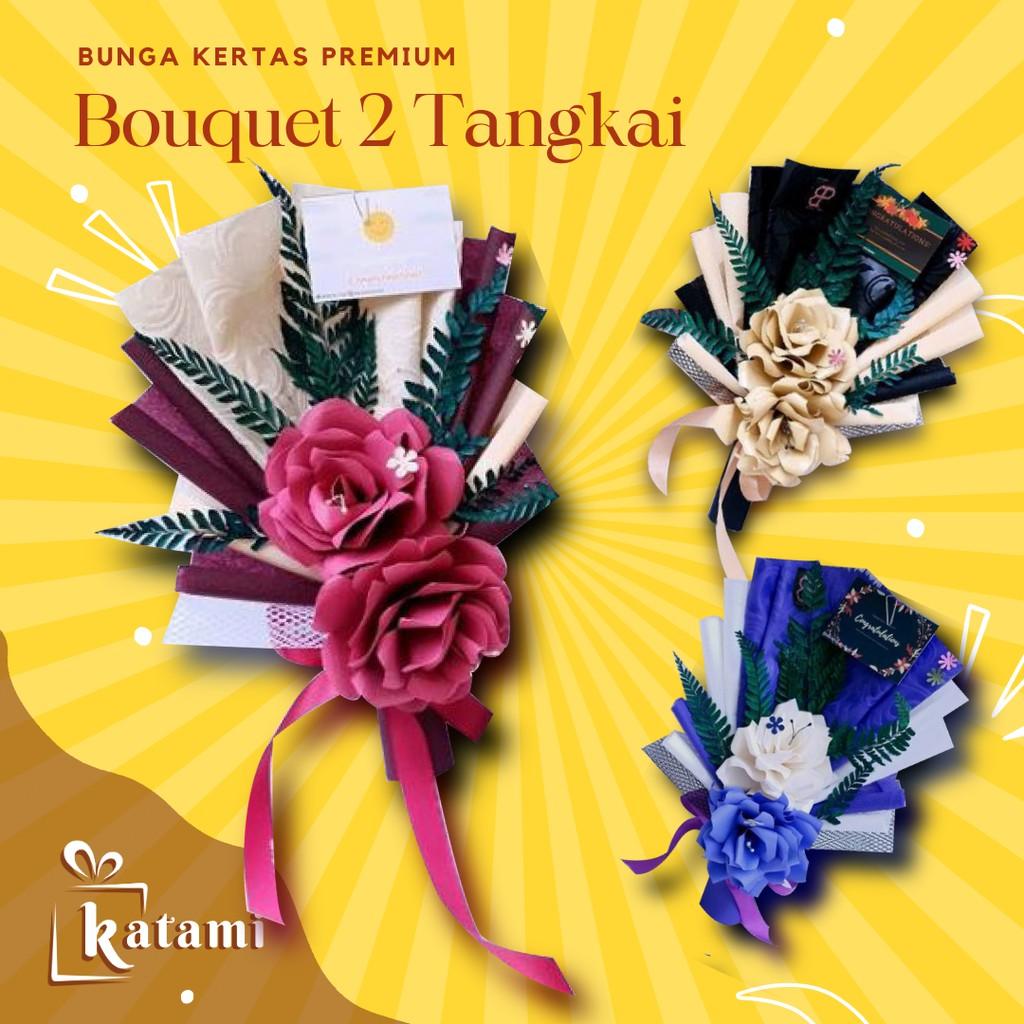 Buket Bunga Kertas Wisuda Murah BZ Flower Bouquet Hadiah Wedding Ulang Tahun Cowok Graduation 2021
