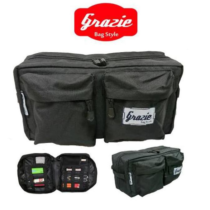 New Product Carboni Waistbag Ransel Tali Satu Aa00023-10 - Blue Free Ongkir | Shopee