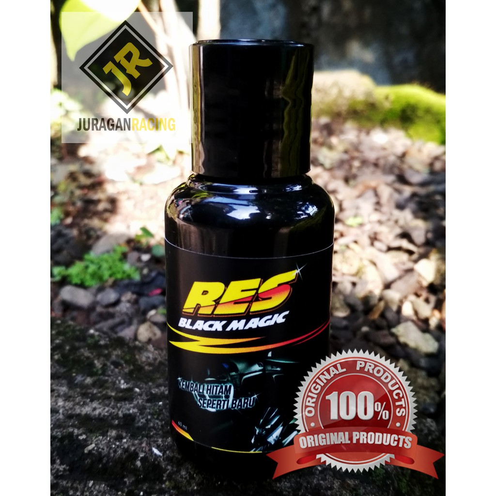 Res Black Magic 60 Ml Penghitam Body Motor Dan Dashboar Mobil Shopee Indonesia