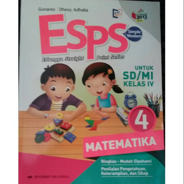 Esps Matematika Sd Mi Kelas 4 K13n Shopee Indonesia