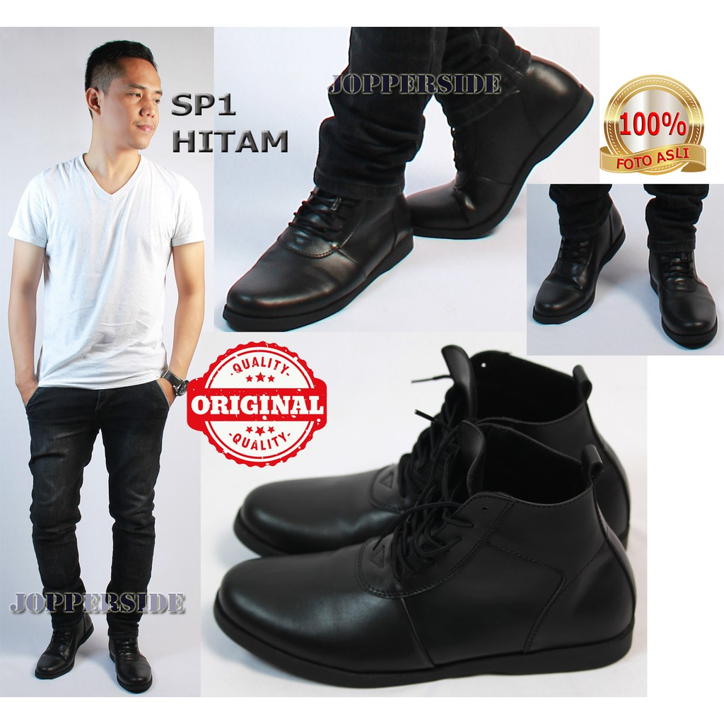 Dr Kevin Men Boots Shoes 1045 Black Shopee Indonesia Formal 1049 Hitam 41