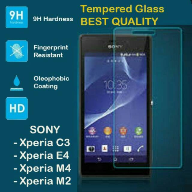 TEMPERED GLASS SONY XPERIA C3 C4 M2 M2 5