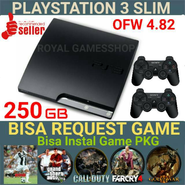 Playstation 3 Ps 3 Ps3 Slim Hdd 250gb OFW + Free Request game