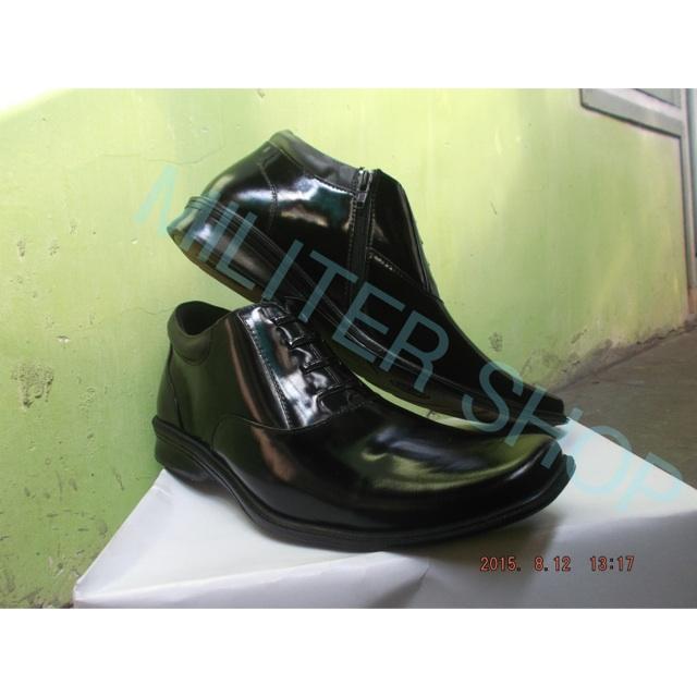 Sepatu PDL Resleting/Sepatu Kulit/Sepatu Lapangan/Polisi/Brimob/Satpam/Satpol-PP/DISHUB/Tactical   Shopee Indonesia