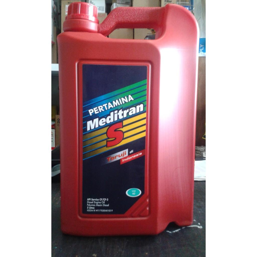 Pertamina Meditran S 40 Sae 5 Ltr Oli Mesin Diesel Solar Seiken Dot 3 Brake Fluid Minyak Rem Netral Merah 1 Liter
