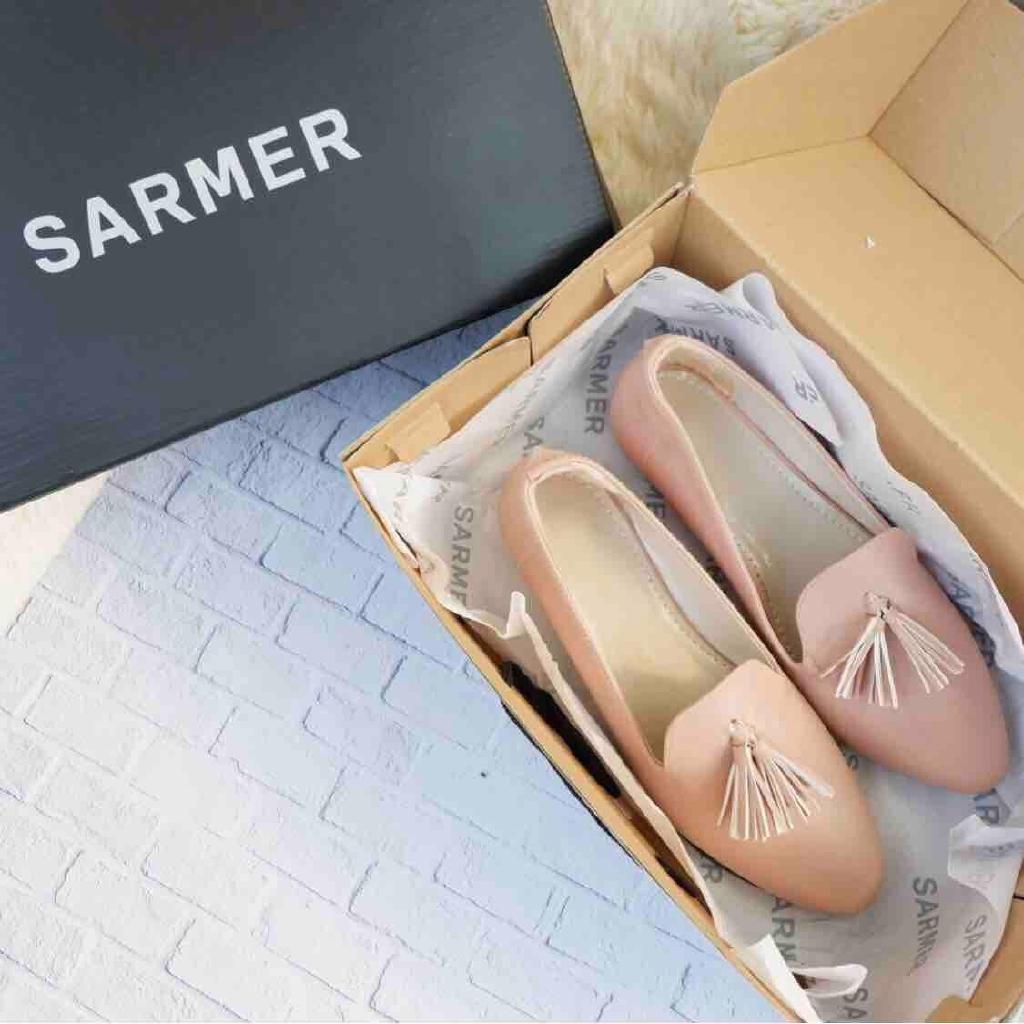 Sarmer Chika Flatshoes Pink Shopee Indonesia Amazara Delia Black Hitam 36