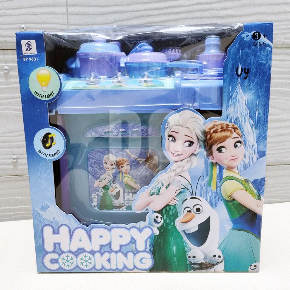 Happy Cooking Frozen With Light Sound Mainan Mini Kitchen Set Masak Masakan Shopee Indonesia