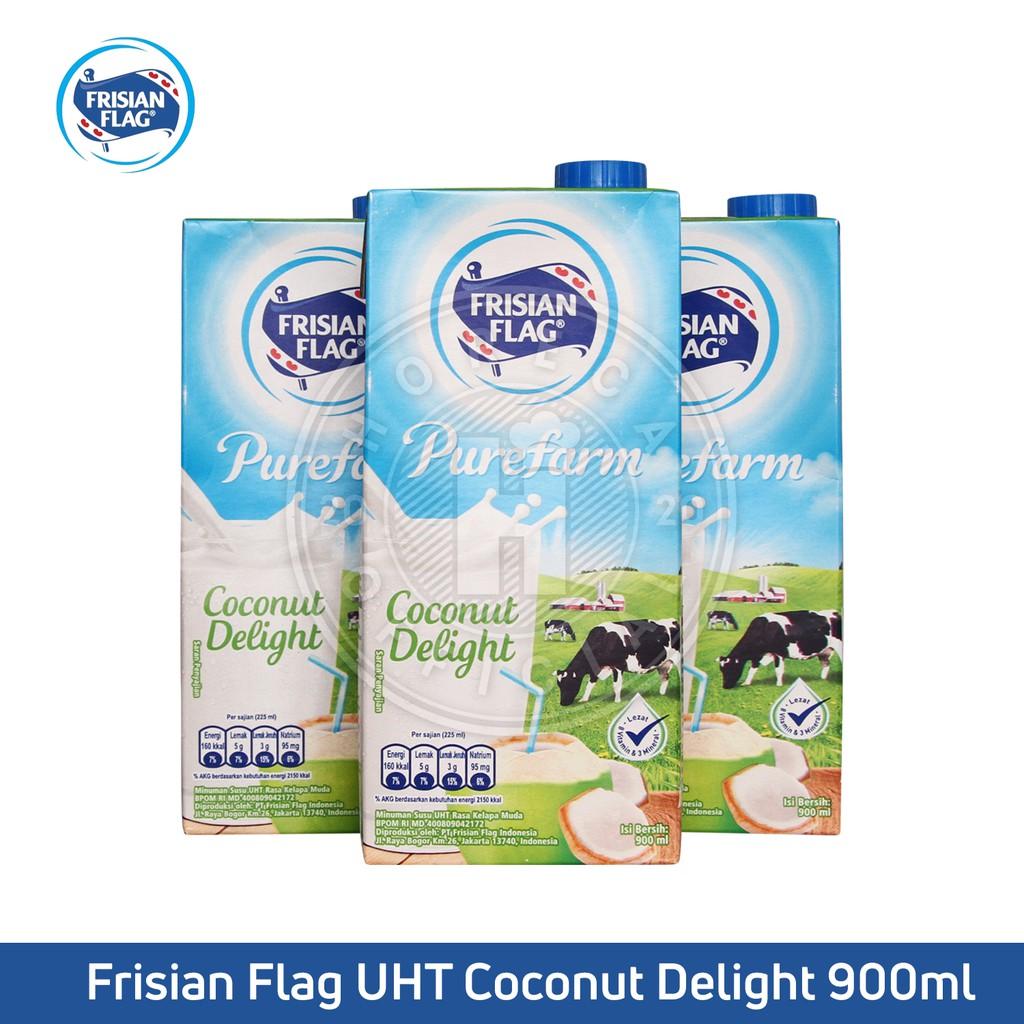 Uht Frisian Flag Milk Purefarm Coconut Delight 1l Susu Uht Frisianflag 1 Liter Shopee Indonesia
