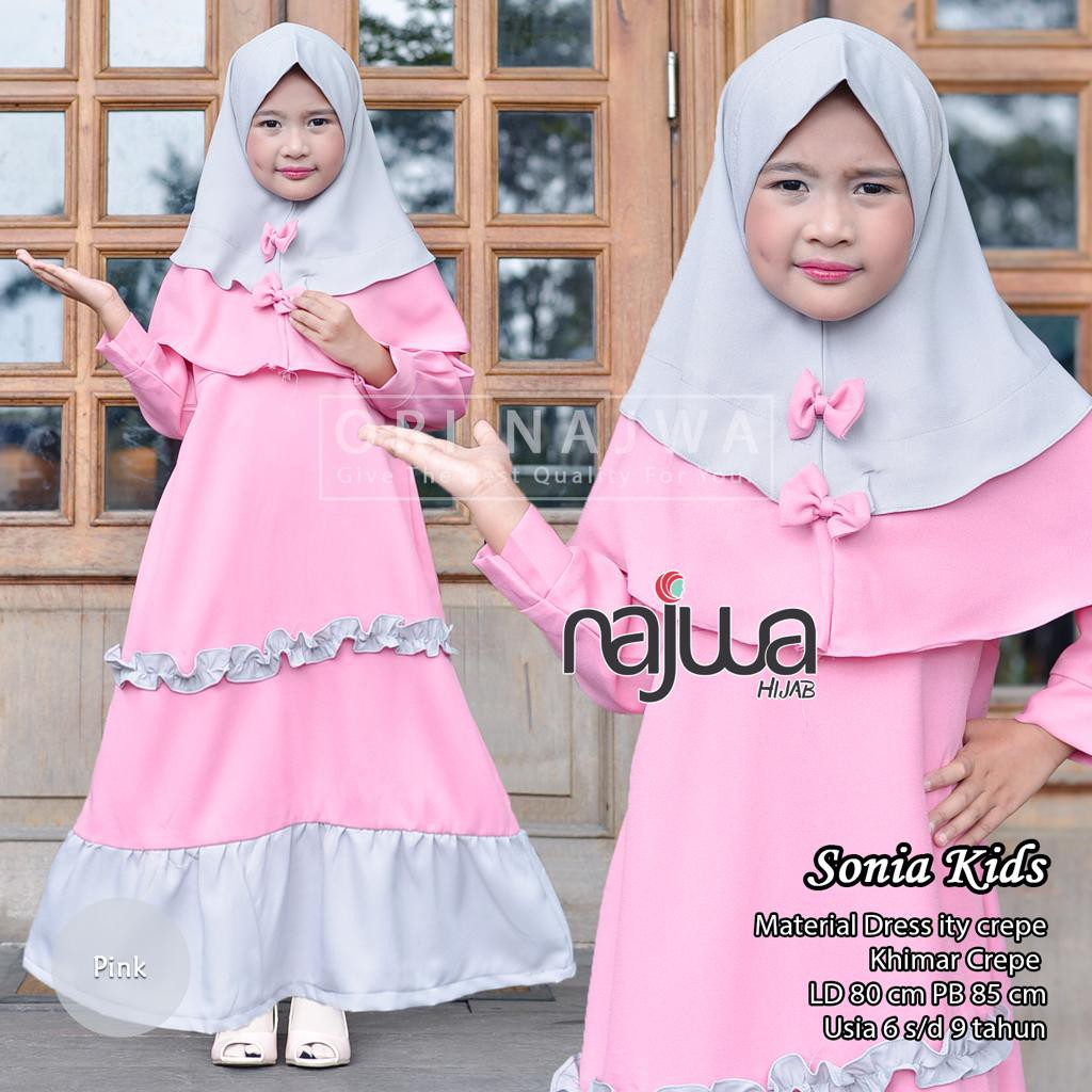 Premierfashionstore Syari Anak Dora Baby Pink .