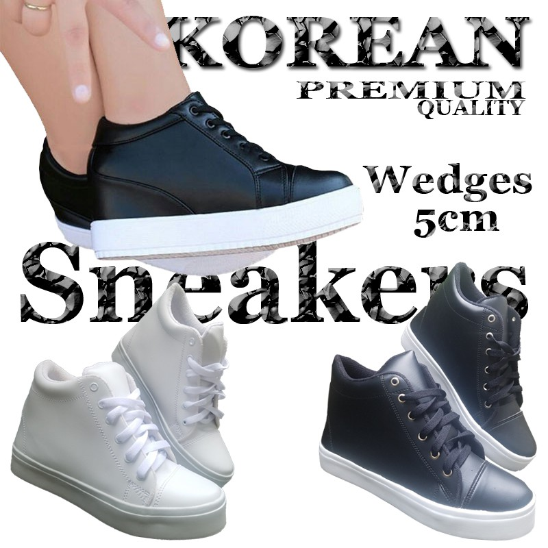 Bayar Di Tempat Sepatu Sneakers Wanita Sol Tebal Casual Gaya Korea  Harajuku Warna Putih  6c46b38aec