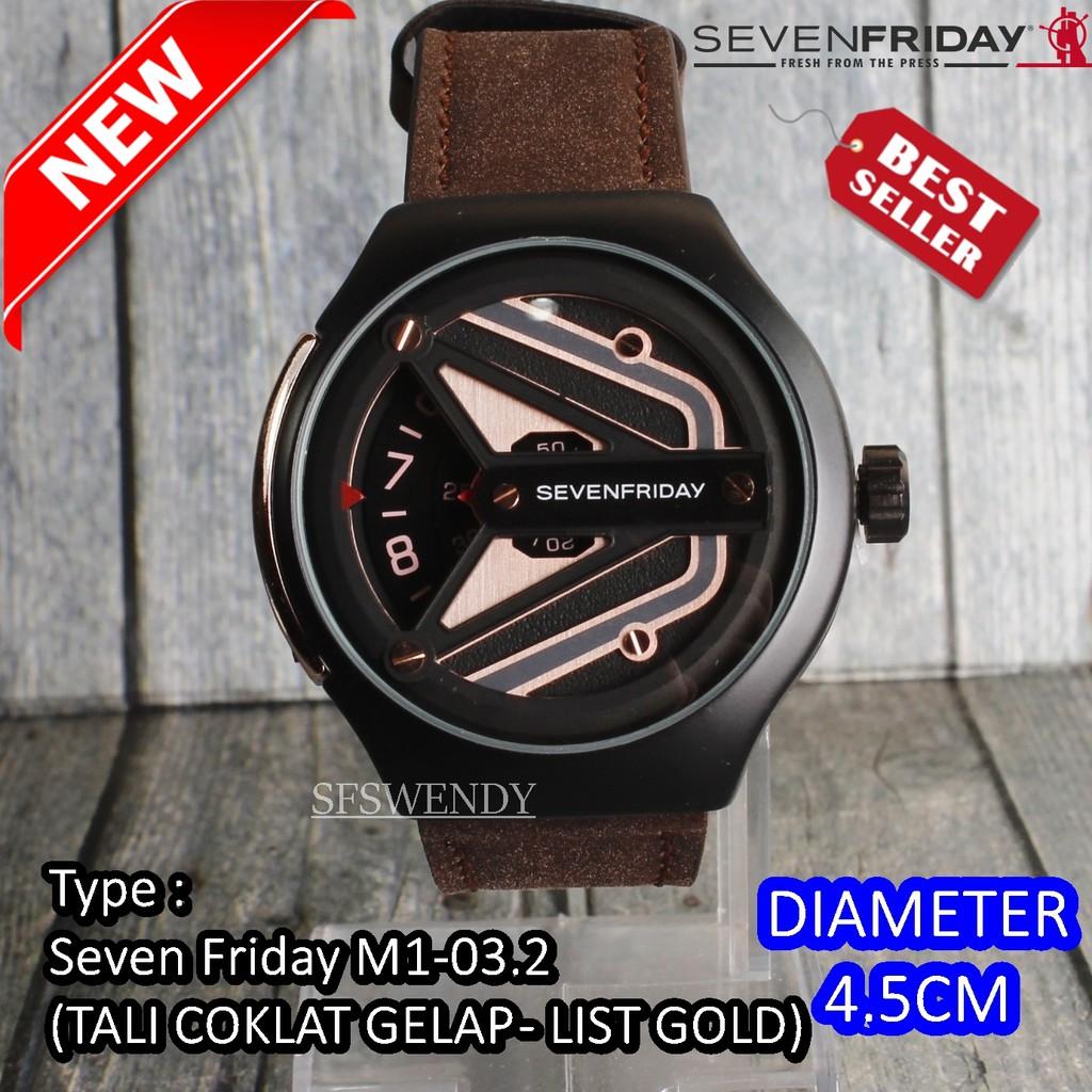 Jam tangan Seven Friday   SevenFriday M1-03 Kulit Sapi ASLI Authentic  Leather Premium coklat tua  5faaa29983