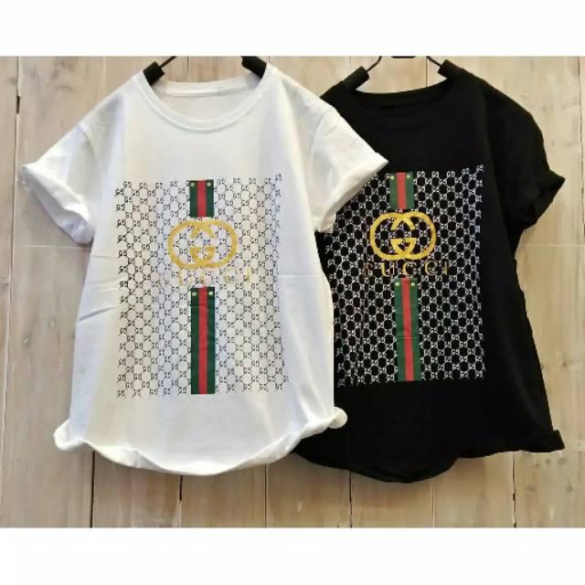 08a68b67f19 KAOS GUCCI   T-shirt  Kaos cewek  Tumblr Tee   Atasan Wanita   Kaos Gucci  cewek   Kaos Wanita