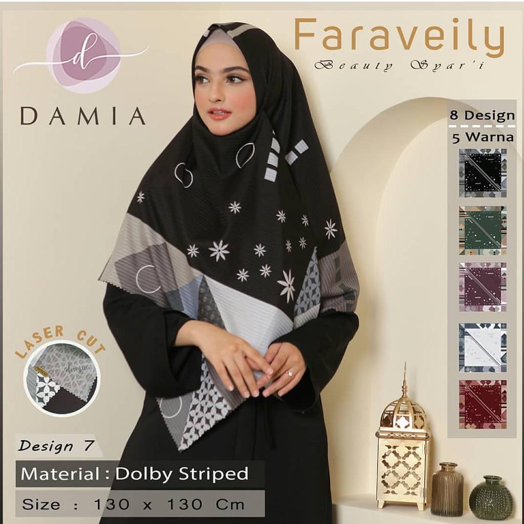 Jilbab Segi Empat Motif by Damia desain 11