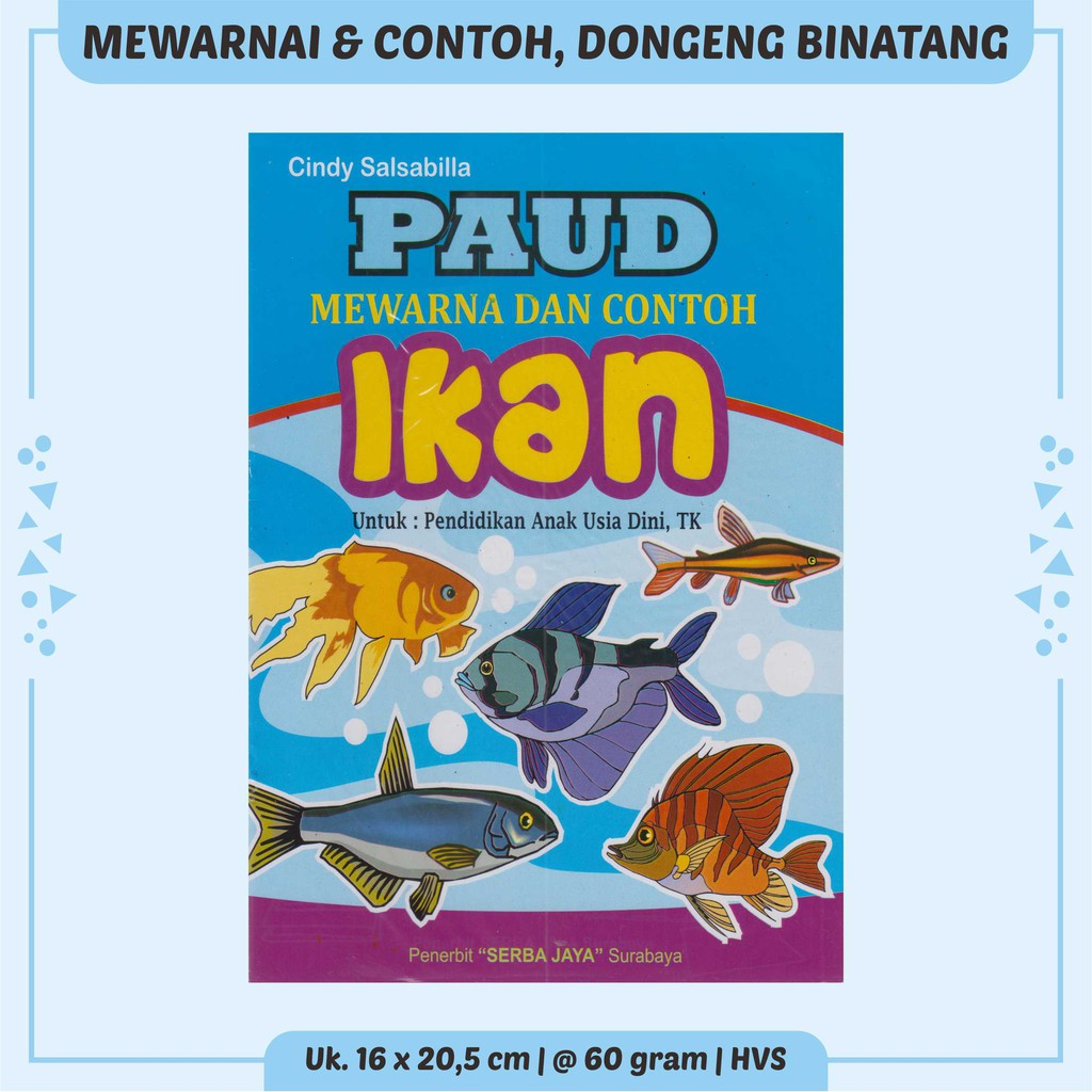 Buku Anak Cerita Anak Buku Anak Tk Paud Dongeng Binatang Lengkap Dan Murah Mewarnai Ikan Srb Jy Shopee Indonesia