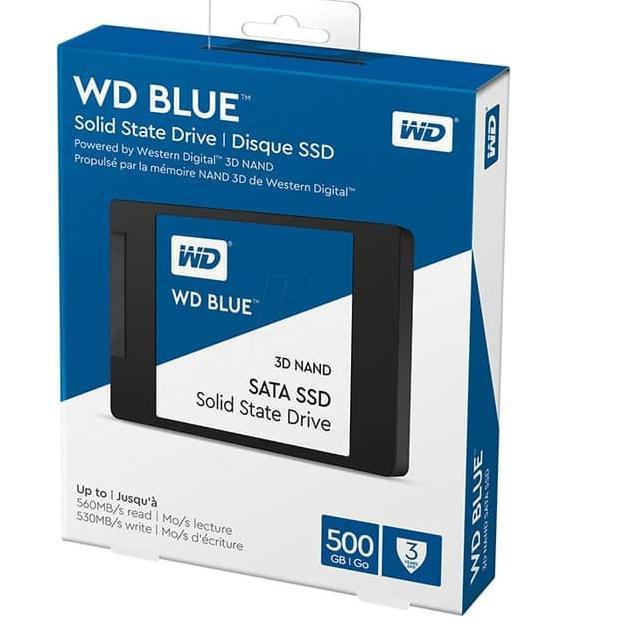 """WD Blue WDS500G2B0A 500GB 2.5/"""" 3D NAND SATA Internal Solid State Drive"""
