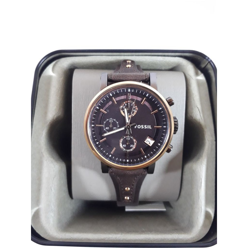 Fossil Boyfriend Brown Watch Es 4286 Shopee Indonesia Casio Original Lrw 200h Jam Tangan Wanita White Cherry