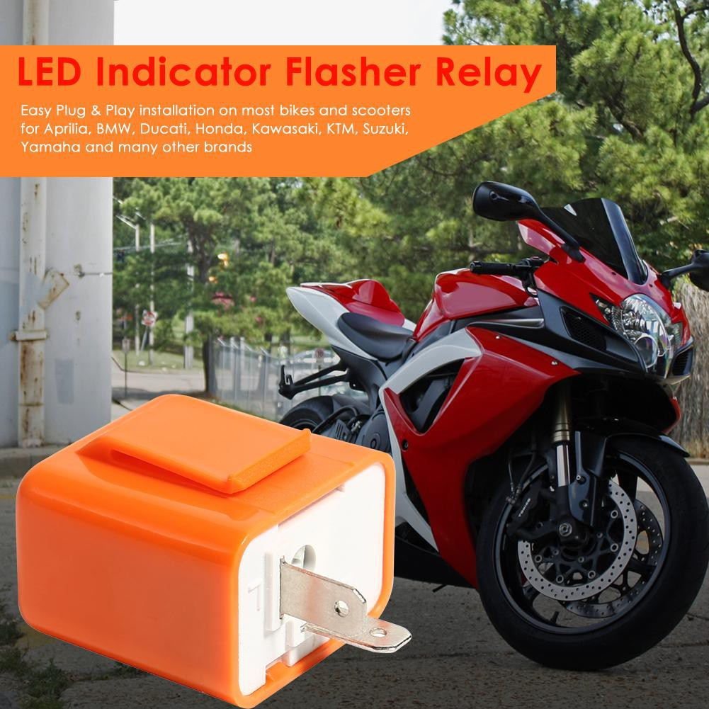 Multifunctional 2 Pin Speed Adjustable LED Indicator Waterproof Flasher Relay Resistor Fix Flash For Motorcycle 12V