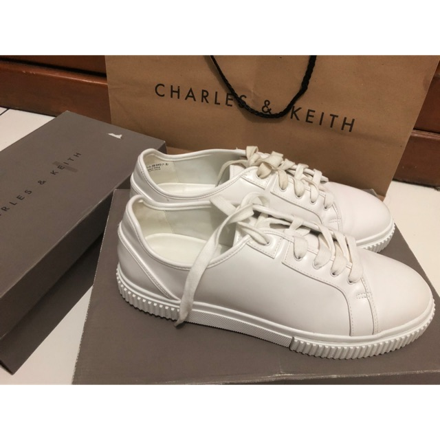 Charles And Keith White Sneakers Shopee Indonesia