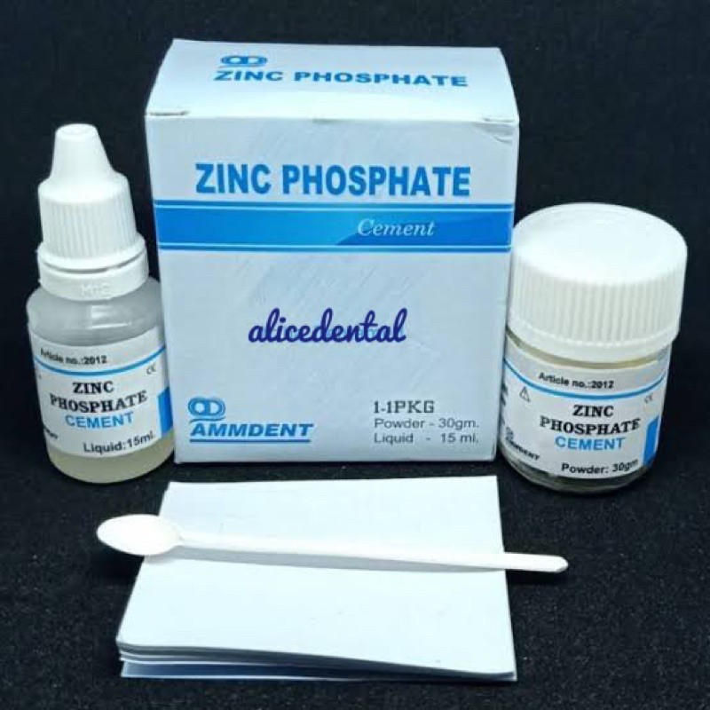 Zinc phospate cement ammdent semen zinc fosfat lem crown gigi palsu