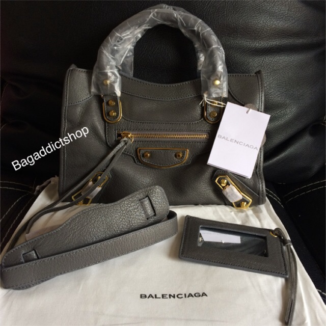Tas BALENCIAGA Small city ( Black ) black stud Mirror import quality 1 1  Ori leather VIP  8d47f9969f