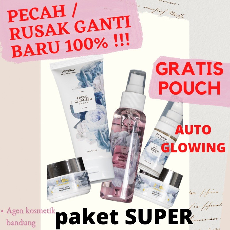 Jglow Skincare Paket Super Whitening Hp Sensitif Flek Cream Best Seller Krim Bpom Original Shopee Indonesia