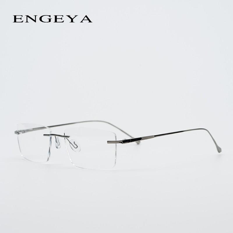 Logam Pria Optik Kacamata Transparan Persegi Fashion Brand Designer Resep  Frame Kacamata Elastis  c081623e96