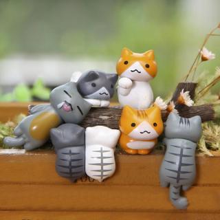 6pcs miniatur kucing lucu untuk dekorasi rumah / taman