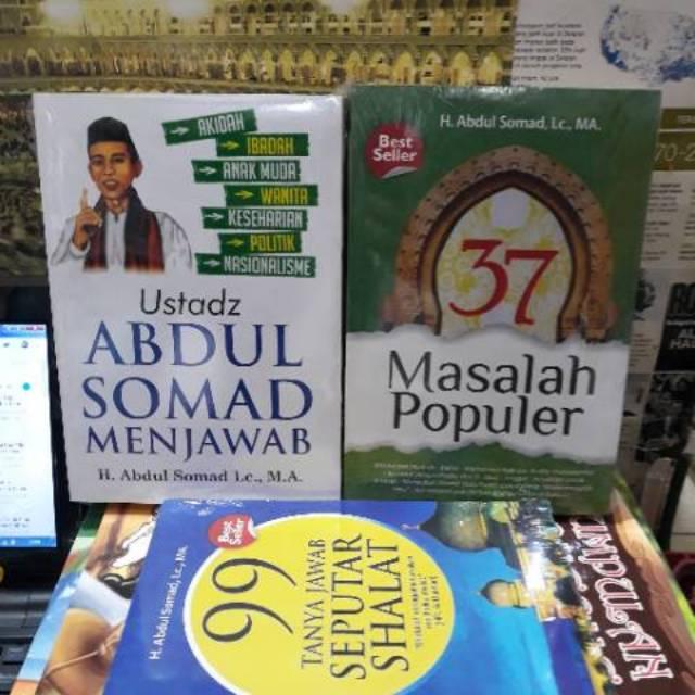 paket 3 buku ustadz abdul somad menjawab 37 masalah populer 99 tanya jawab  seputar shalat