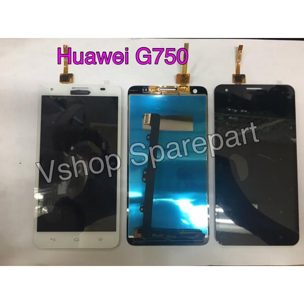 Fullset Lcd Touchscreen Huawei G750 Honor 3x Black White Full Set ORI