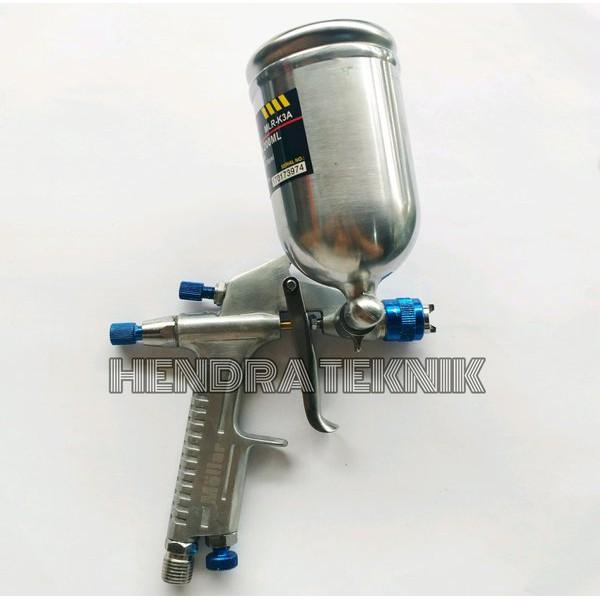 Spraygun K3 Mollar Spray Gun Tabung Atas Kecil Spet Duco Sepet Dico Motor Semprot Cat.