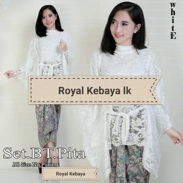 Real Pict Setelan Kebaya Modern Kebaya Brukat Premium Kebaya Wisuda Kebaya  Kondangan Rinjani White  f2f9730bbd