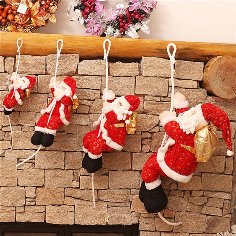 612A 3pcs//Set Christmas Candles Santa Claus House Gift Decorations Supplies