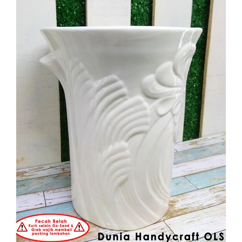 Vas   Pot Bunga Keramik Motif Anggrek  c822afb290