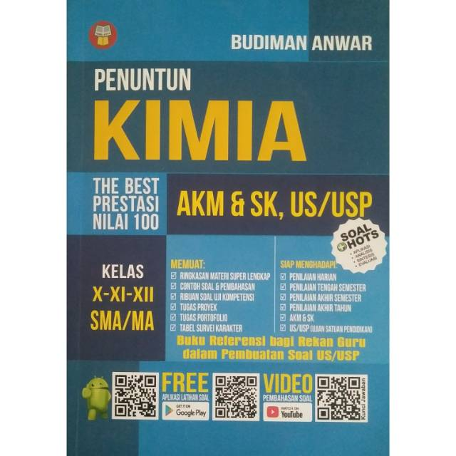 Buku Penuntun Nilai 100 Kimia Akm Sk Us Usp Kelas X Xi Xii Sma Ma Shopee Indonesia