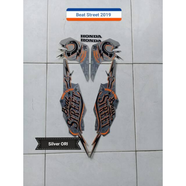 Striping Motor Honda Beat Street 2019 Silver Shopee Indonesia