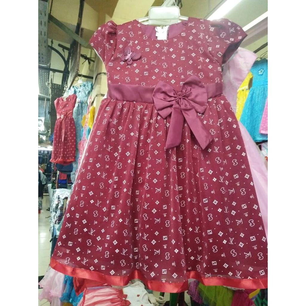 Baju Gamis Jeans Levis Anak Perempuan Umur 7 10 Tahun Shopee Indonesia Dress Bunga 1 5 Lengan Buntung Lucu Tutu Pink Kemerahan