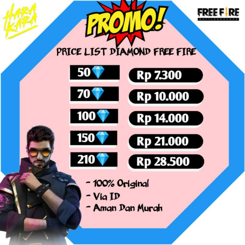 Diamond ff murah top up diamond free fire freefire dm ff termurah 50 sd 210 diamond free free fire
