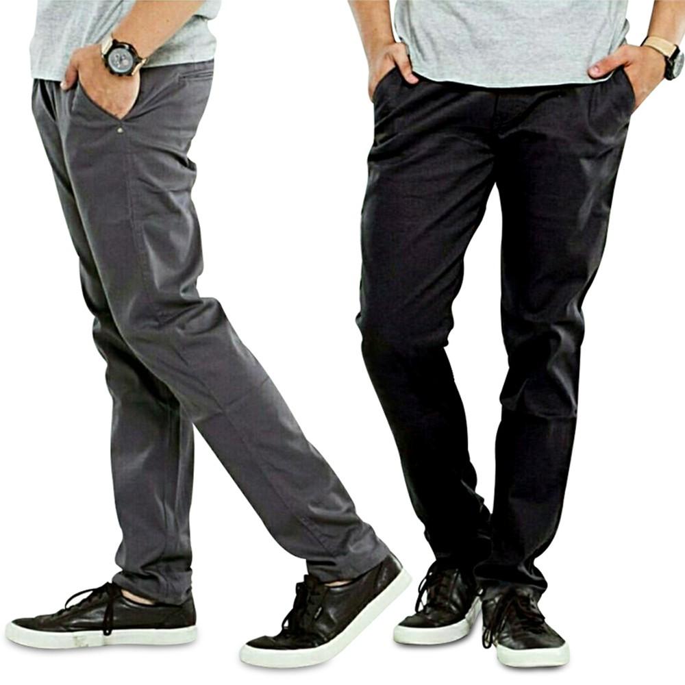Celana Panjang Skinny Fit Chino Zara man   Shopee Indonesia