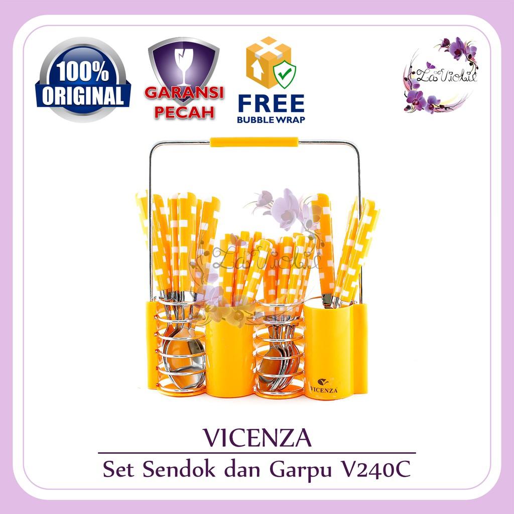 Sendok Set Vicenza Motif V 248 Shopee Indonesia 24 Pcs V241c Black