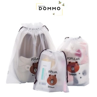 [IMPOR] DOMMO - D1286 Travel Pouch Organizer Serbaguna / Tas Serut Make Up Kosmetik Motif Anti Air