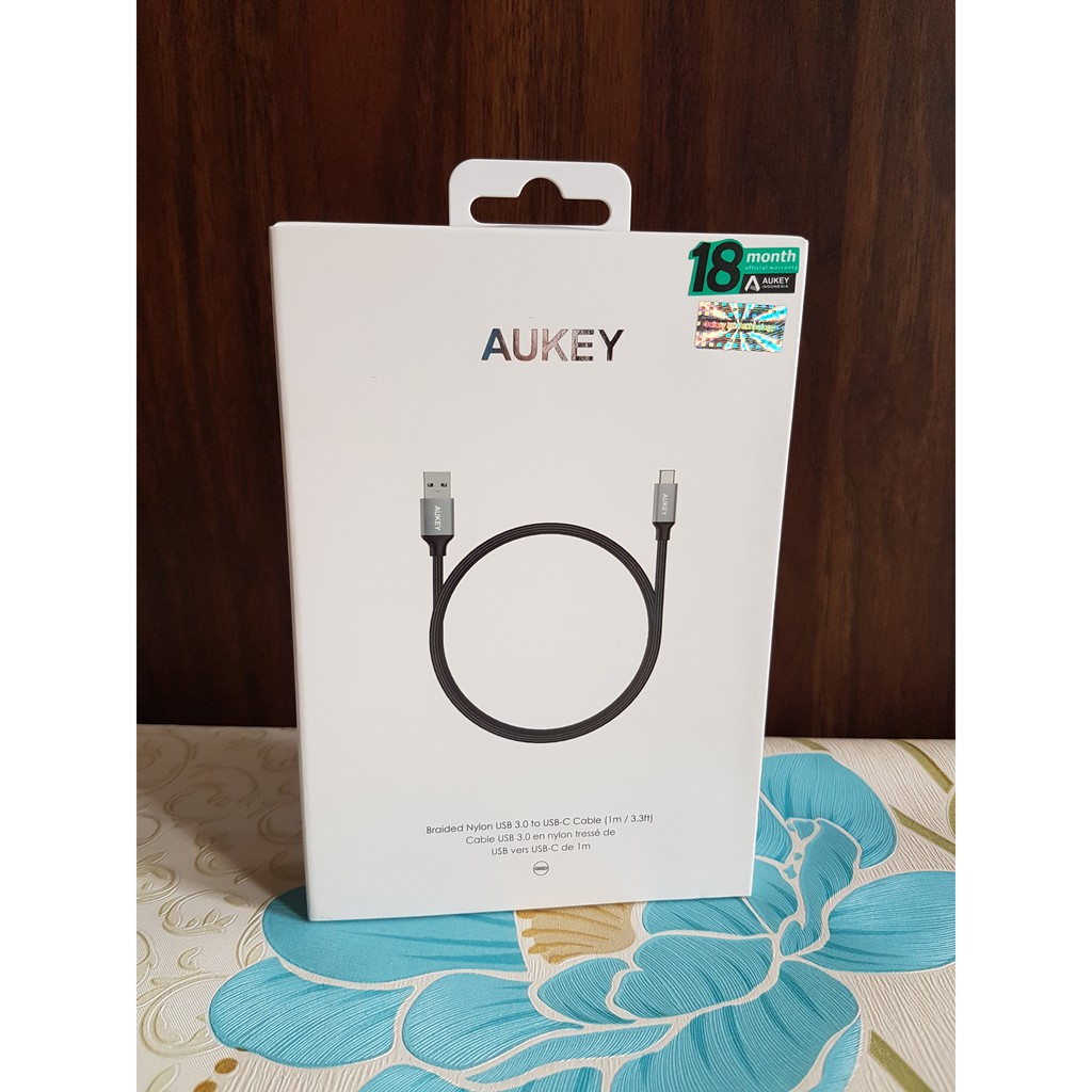Aukey Cb Cd2 Cable Braided Usb 30 A To C Garansi Resmi Adapter Ilo Af201 Sp Quick Fast Charging 2 Indonesia Shopee
