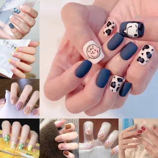 24PCS Cute Fake False Nails with Free Glue Manicure R081-R101 thumbnail
