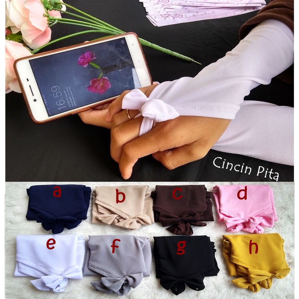 Handsock Cincin Renda Manset Fingerless Shopee Indonesia Kaos Kaki Jempol Florist Wr 007