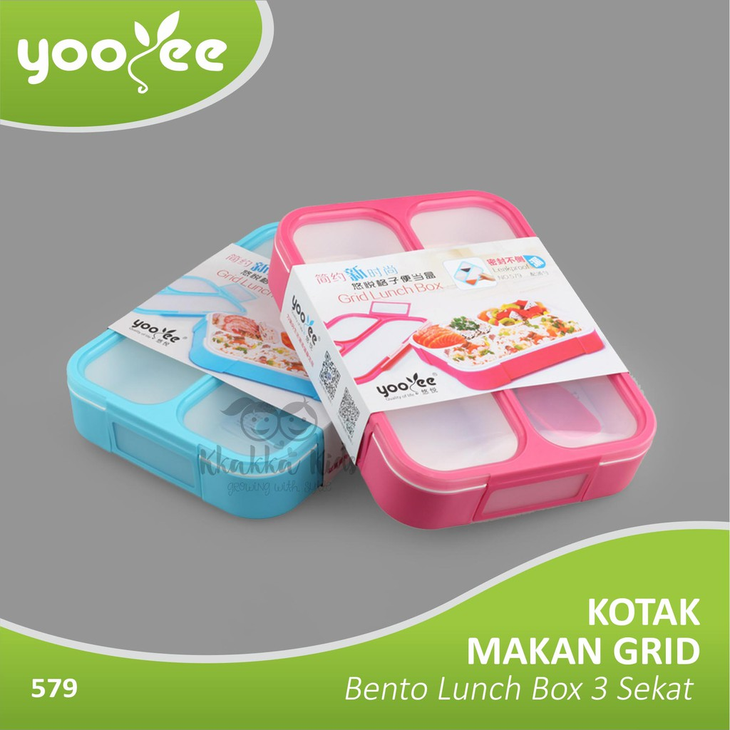Lunchbox Yooyee 589 Sekat 5 Anti Panas Kotak Makan New 578 Lunch Box Bento Bekal Bocor Tempat Shopee Indonesia