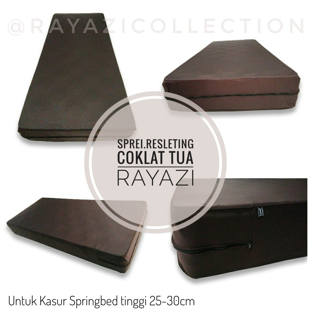 Uk 100 X 200 Tinggi 25 30cm Sprei Resleting Springbed Shopee Sarung Kasur Busa 120 20 Motif Luxury Indonesia