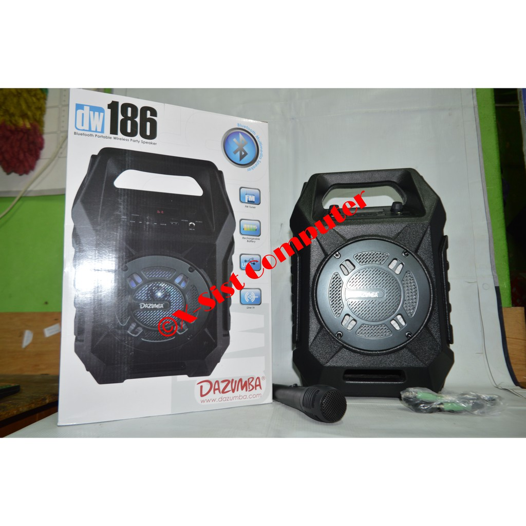 Speaker Portable Dazumba Audiopad Dag08 Shopee Indonesia Aktif Bluetooth And Radio Dw186 186